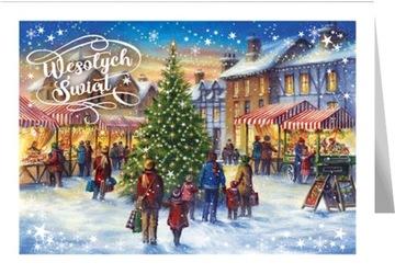 Vianočná pohľadnica s textom Mestský veľtrh B598
