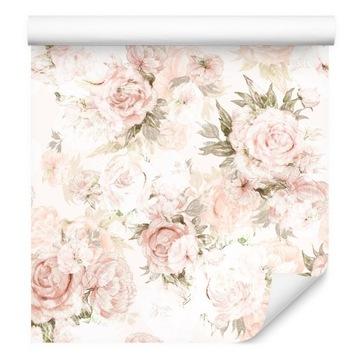 Tapeta Pastelové pivonky Kvety odchádza zo spálne