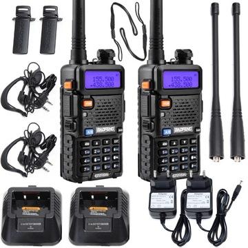 RÁDIOVÝ TELEFÓN Baofeng 2x UV-5R AB 5W