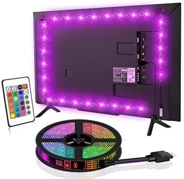 RGB USB 3M LED Páska podsvietenia TV + pilot 5V