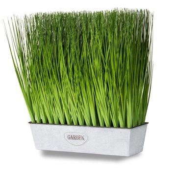 Umelá tráva v kvetinovej hrnci 44 cm a rastlín