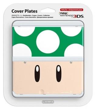 Nový Nintendo 3DS Zelený ropucha 1UP Cover Cover Plates