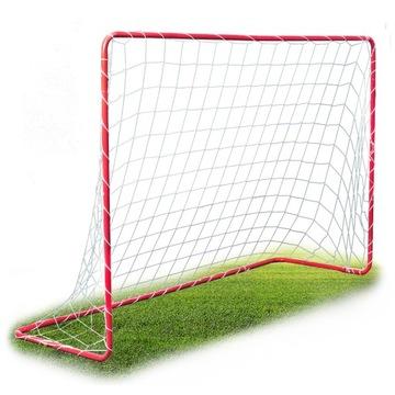 Veľký kovový futbalový gól s mriežkou 183x122 cm