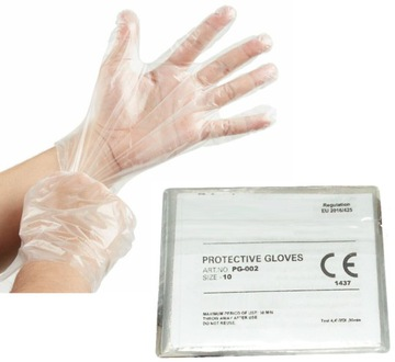 300 kusov fóliových rukavíc / 150 párov jednorazových