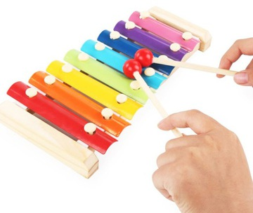 Farebné vzdelávacie drevené činely pre deti
