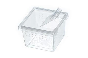 Kontajner pre chovné pavúky - 5.7x5.7x4 cm otvory