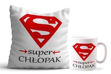 Vankúš + hrnček SUPER BOY DARČEKOVÁ SADA