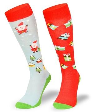 Vianočné darčekové vianočné ponožky - Santa