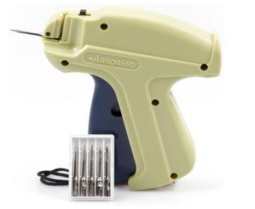 Štítok ihly šípka zbraň pre oblečenie + ihly