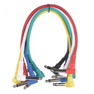 Káblový kábel pre gitarové efekty. Niekoľko farieb