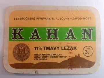 Kahan Beer Label