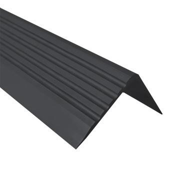 RGP čierny protišmykový schodiskový profil 1,5 m