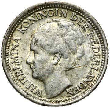 + Holandsko - Wilhelmina - 10 centov 1939 - Silver
