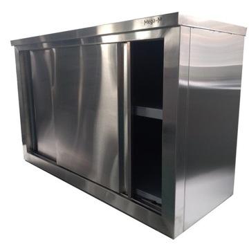 Nástenná skrinka s dverami z nerezovej ocele 140/40