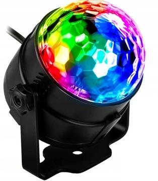 Disco Kula Disco Projektor RGB LED reflektor