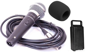 Dynamický mikrofón, hlasový, karaoke, kábel, špongia