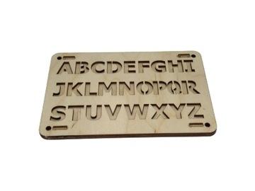Tabuľka senzorickej manipulácie s abecedou písmen