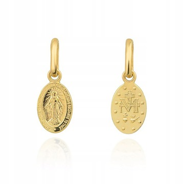 Nádherná zlatá medaila Szkapulza Madonna PR.585
