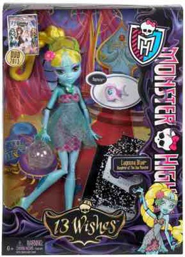 Monster High 13 Wish Lagoona Blue bábika