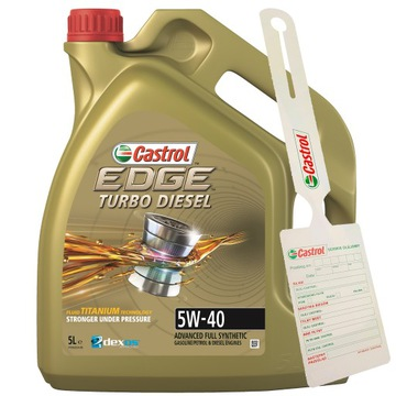 OIL CASTROL EDGE TURBO DIESEL 5W40 5L + vešiak