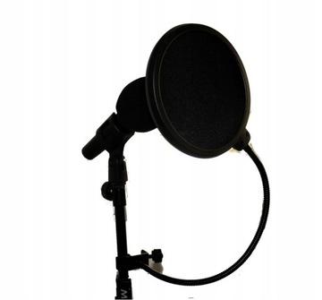 Mikrofónový filter dvojitý membránový popový filter