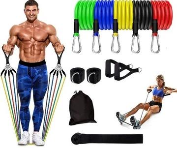 Odolná guma Fitness Set s rukoväťou