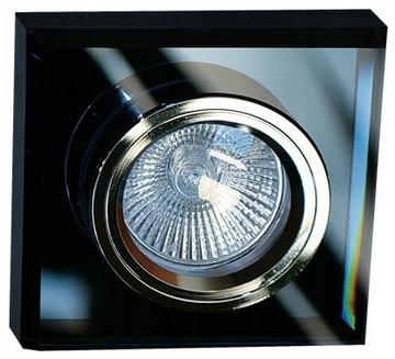Čierny sklenený krúžok pre LED štvorec