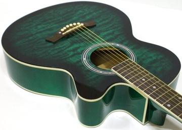 Krásne zdobená akustická gitara echo917 + doplnky