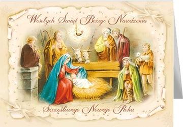 Vianočná pohľadnica s textom Svätá rodina BR3