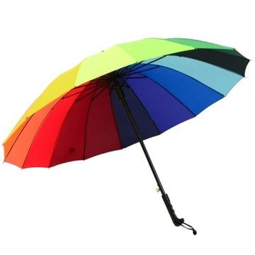 Parasol dáždnik farebné dúha veľké 16 zbraní