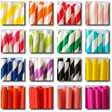 Slamky na papier 500 ks 197 / 6mm   33 prevedení / farieb