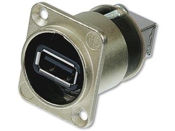 Neutrik NaUSB-V panel Konektor USB 2.0 A-B Zásuvný konektor