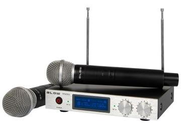 Bezdrôtový mikrofón fúka prijímač VHF nastaviť