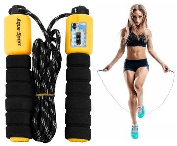 Preskočenie lana s crossfit fitness meter. Nastavenie