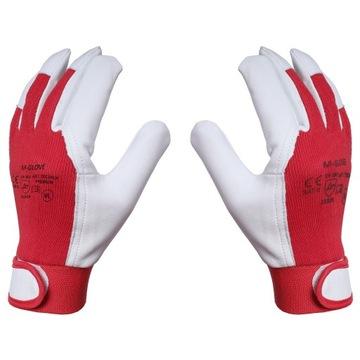 Rukavice Pracovné rukavice Koža Kozia RZEP ROZ 9