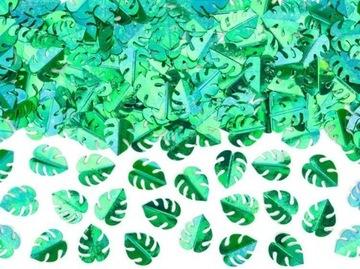 CONFETTI GREEN LISTY 15 G HAWAII DEKORÁCIA
