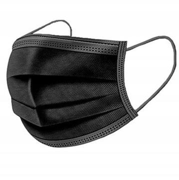 Čierna maska čierne masky čierne 100 ks.