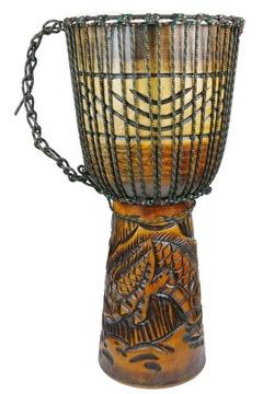 Bębenek, Drum Djembe vyrezaná výška. 50 cm draka