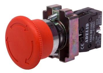Hubové bezpečnostné tlačidlo XB2 BS542 kov