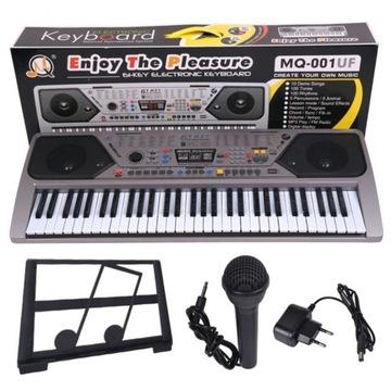 Veľký organový klávesový klavír pre mikrofón 61