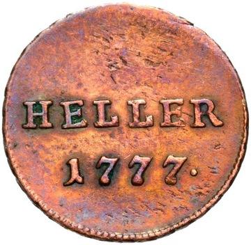 + Rakúsko - Józef II - 1 Heller Haler 1777 Stav!