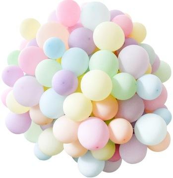 Farebné pastelové balóny - 70 kusov
