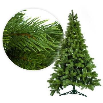 Vianočný strom umelý borovicový strom jasný 220cm stojan prirodzený