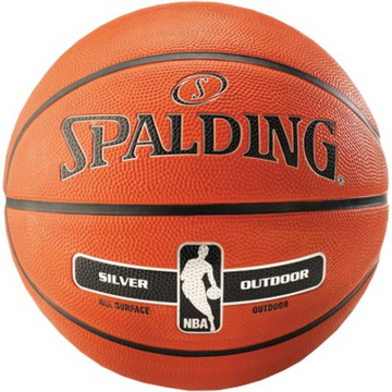 Basketball Ball Spalding NBA Silver Outdoor
