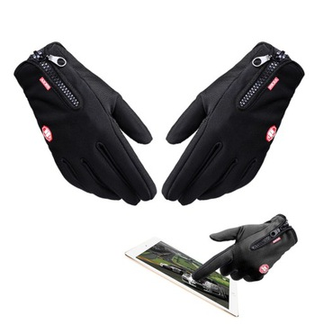 Motocyklové rukavice Quad Enduro Vodotesné na dotyk