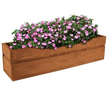 Drevený hrniec kvetináčník pre veľké kvety