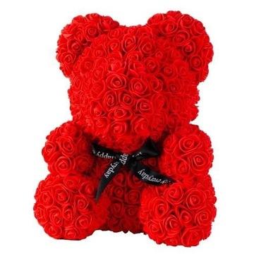 Medvedík s kvetmi ruží skvelý darček