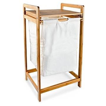 Bambusový kôš pre veľkú bielizeň pre veľké + police