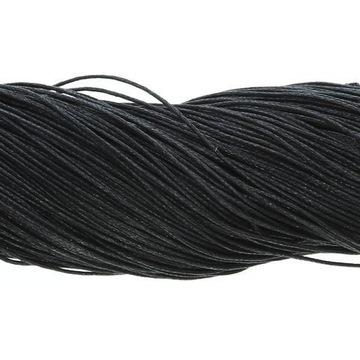 Voskovaná bavlnená šnúra čierna 1 mm ~ 80 m Veľkoobchod