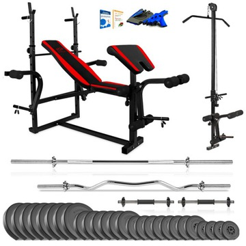 Xylo Gym 178 kg Bench + Gryfy + LOAD